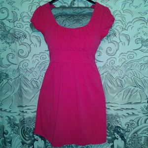 LOFT Pink Empire Waist Jersey Dress Size Large